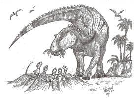 Good mother reptile by HodariNundu