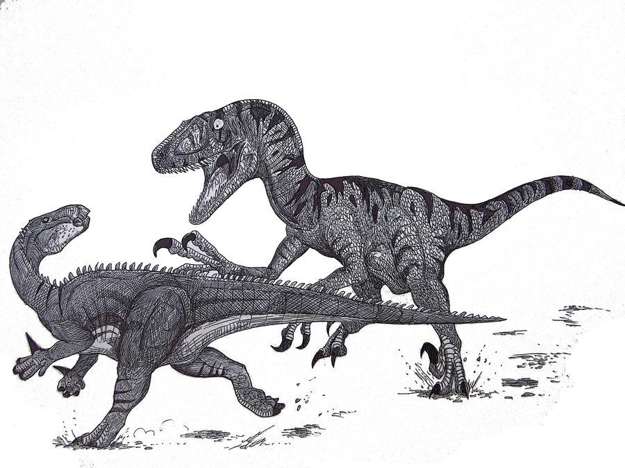 Utahraptor vs Hippodraco by HodariNundu on DeviantArt