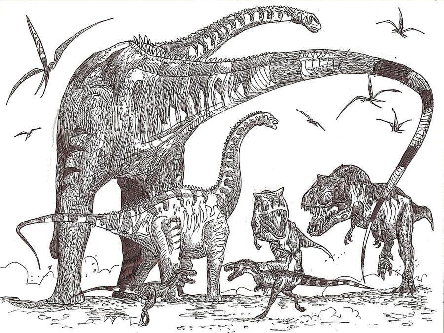 alamosaurus_hunt_by_hodarinundu-d3ae0vu.jpg