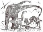 Alamosaurus hunt