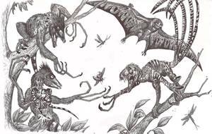 Tree dinosaurs by HodariNundu