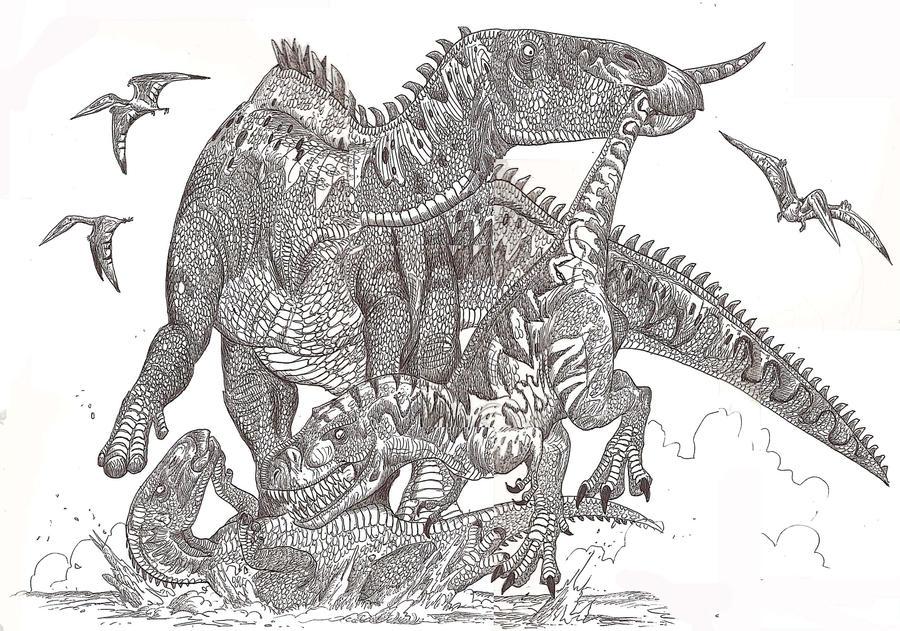 Zhuchengtyrannus magnus by HodariNundu on DeviantArt