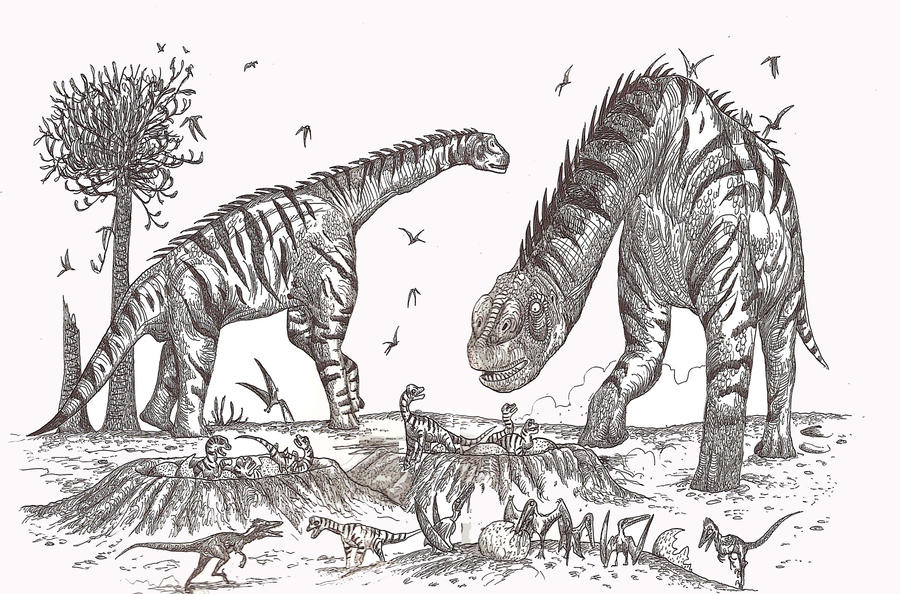 Atlasaurus nest by HodariNundu