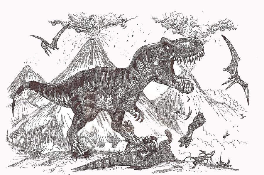 Tyrannosaurus rex by HodariNundu
