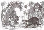 Psittacosaurus vs Repenomamus