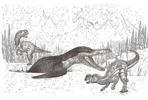 Kronosaurus is Hungry by HodariNundu