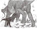 Feathered T-Rex vs Alamosaurus
