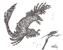 Microraptor wantz cheezburger by HodariNundu