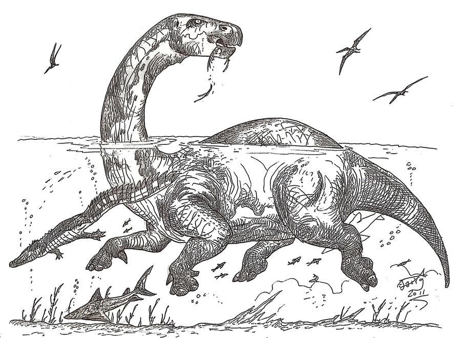 lurdusaurus aka dinoppotamus aka mokele mbembe by hodarinundu
