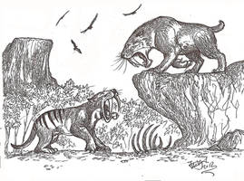 Rise of Smilodon by HodariNundu