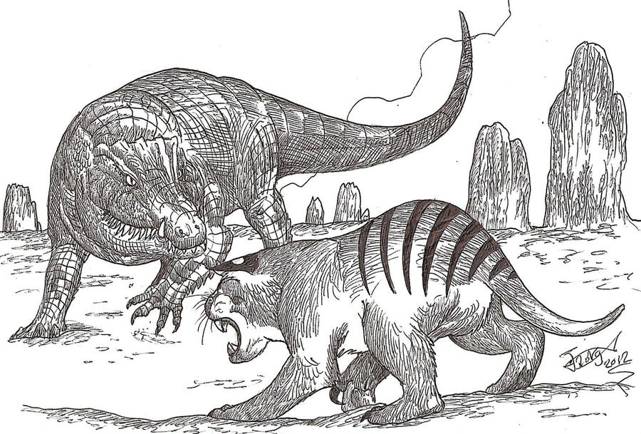 Megalania vs marsupial lion - photo#26