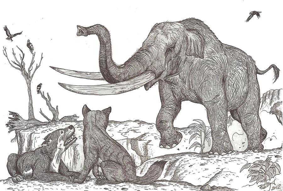 Stegomastodon Is Angry by HodariNundu