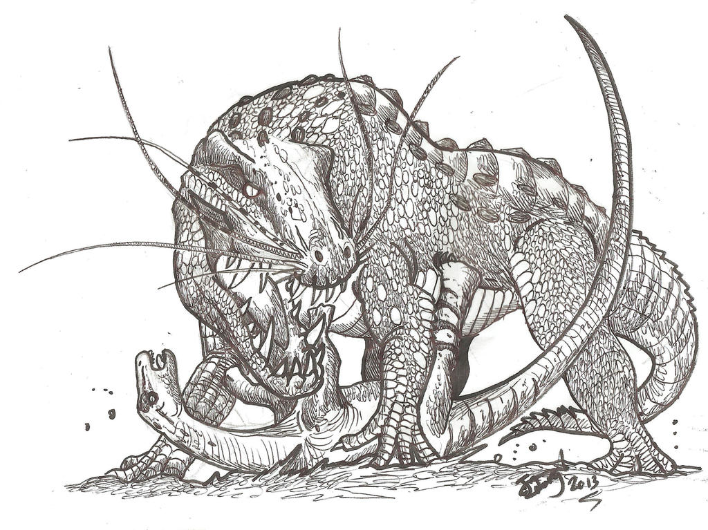 Attack of the Dragon Croc by HodariNundu