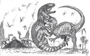 Tendaguru Titans- Ostafrikasaurus Strikes Back by HodariNundu