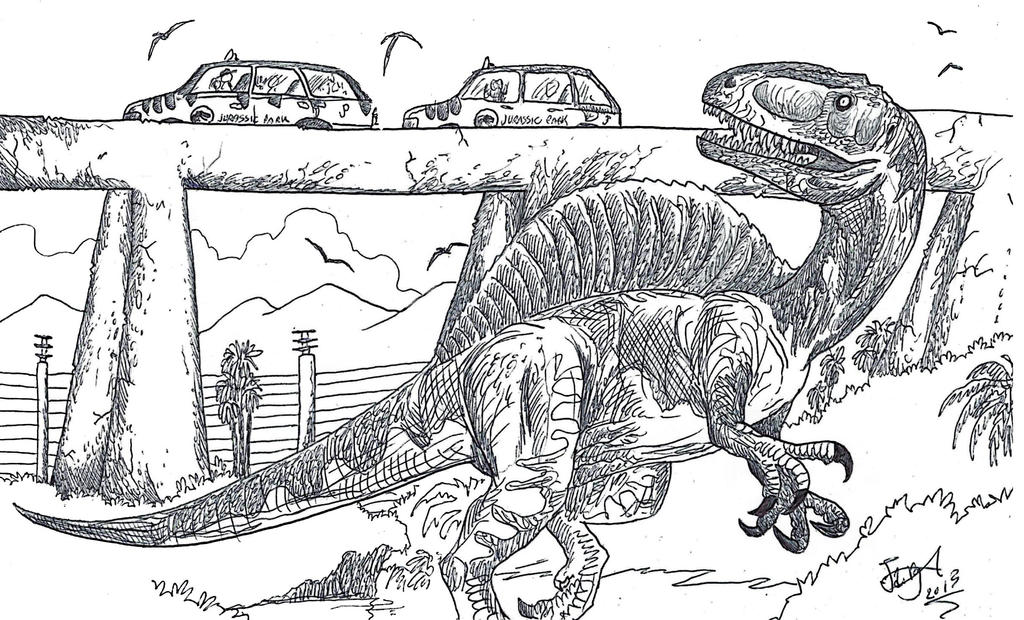 Jurassic Park Altispinax by HodariNundu