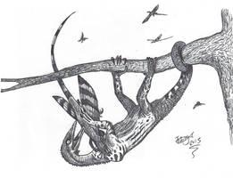Death by Megalancosaur by HodariNundu