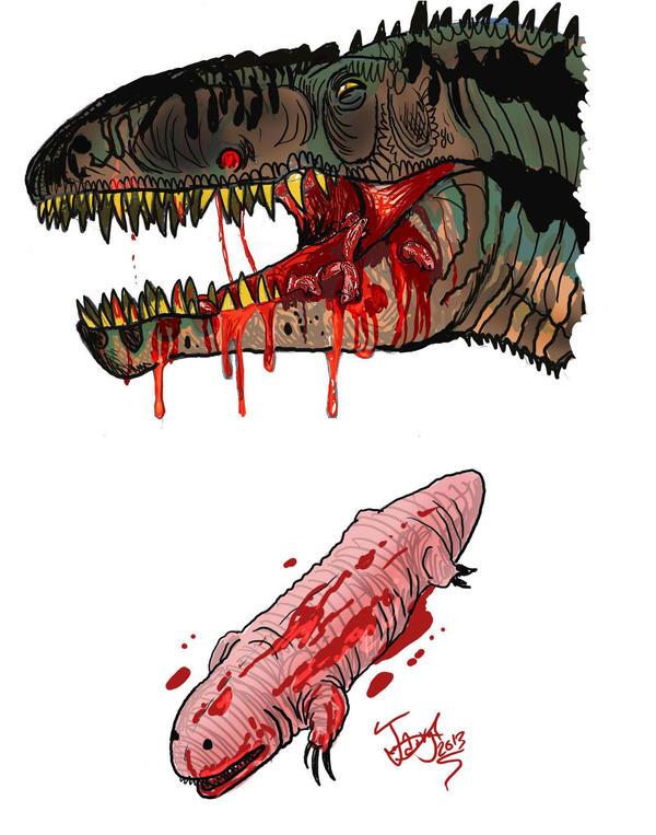 Dinosaur parasite by HodariNundu