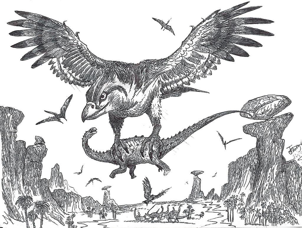 Cretaceous Roc by HodariNundu