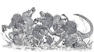 Raptors vs Horse Dragons