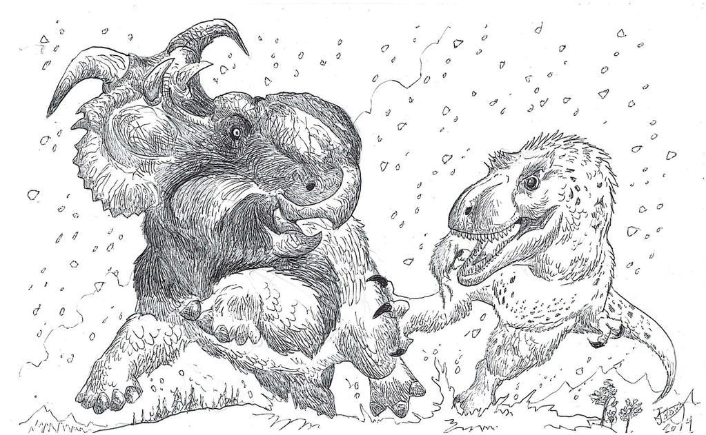 Nanuqsaurus vs Pachyrhinosaurus