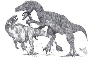 Megaraptor is hungry by HodariNundu