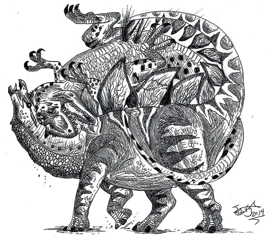 Death of an Allosaurus by HodariNundu