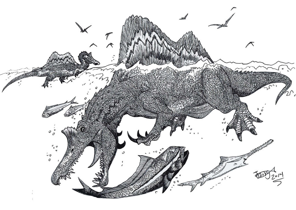 Golden Age Spinosaurus by HodariNundu