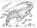 Aquatic Amargasaurus