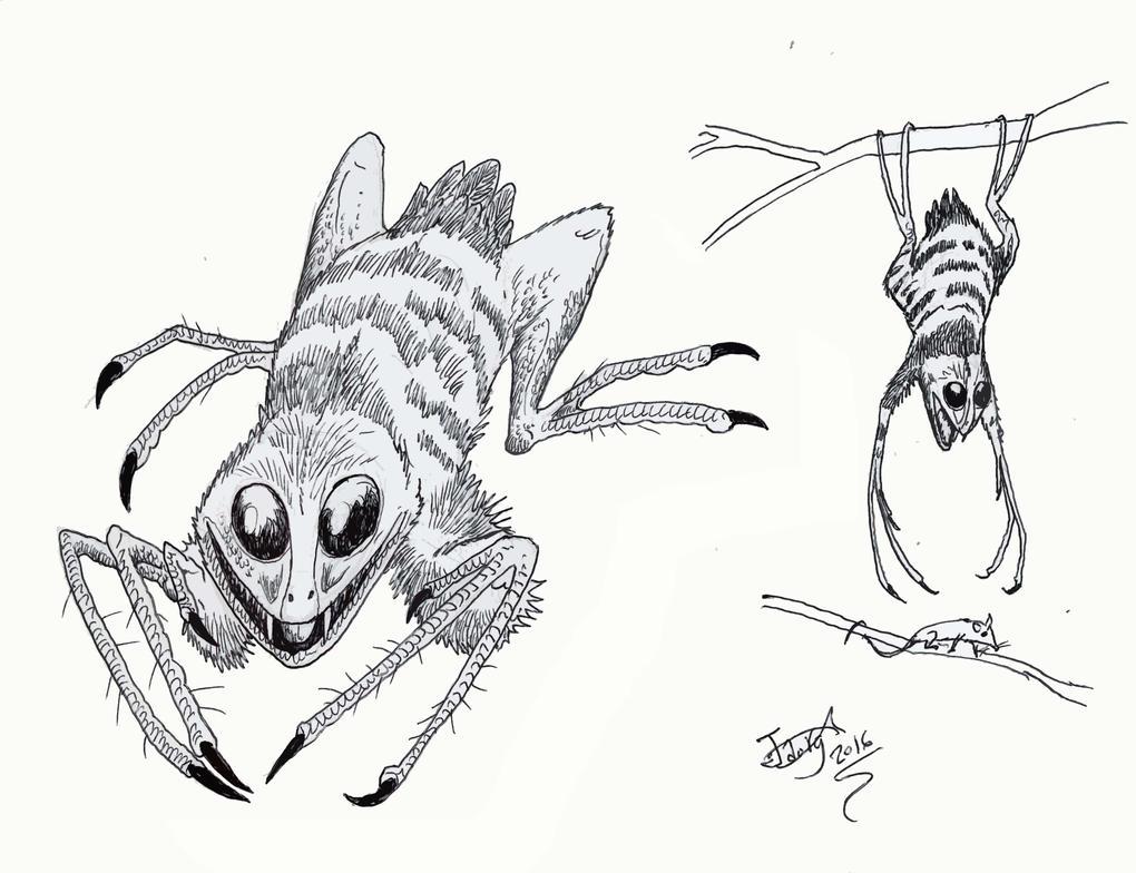 Arachnoraptor damocles by HodariNundu