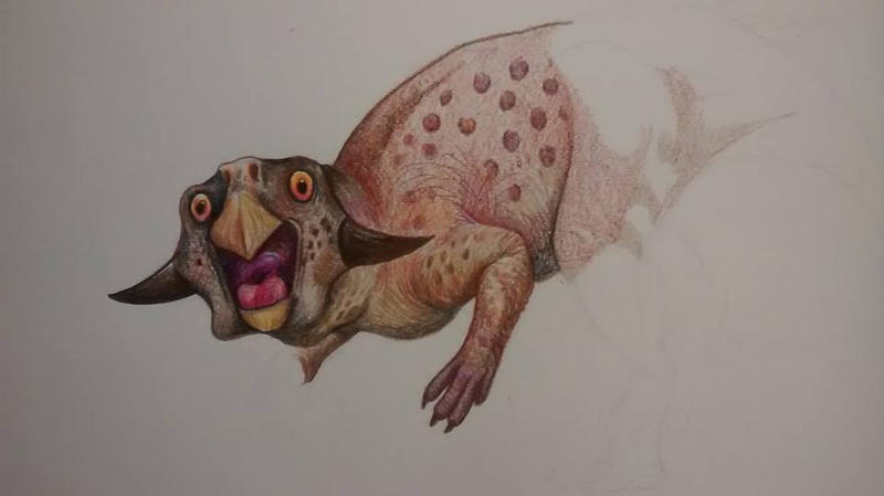 Psittacosaurus, unfinished and loving it by HodariNundu