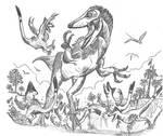 Mobbing the Huntress