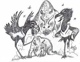 The Other Terror Birds by HodariNundu