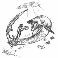 Chlamydoselachus goliath by HodariNundu