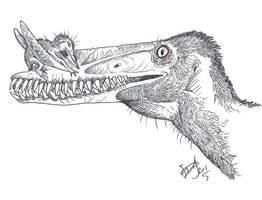 Baby Pterosaur Hug by HodariNundu