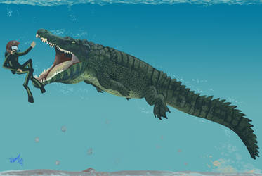 Diving with Deinosuchus