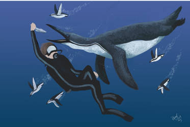 Diving with Palaeeudyptes and Aprosdokitos by HodariNundu