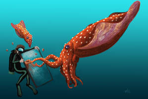 Diving with Tusoteuthis