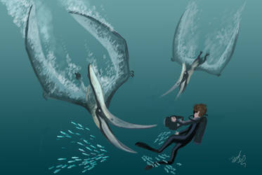 Diving with Pteranodon