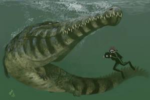 Diving with Machimosaurus