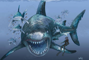 Diving with O. megalodon