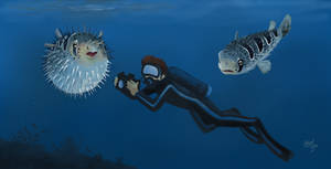 Diving with Diodon