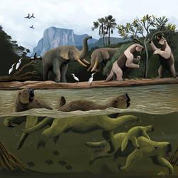 Pleistocene River Scene