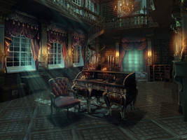 Mansion Corridor by ArtifexMundi