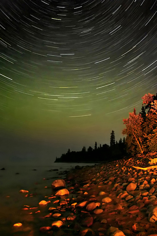 Stars over Goulais Point by tfavretto