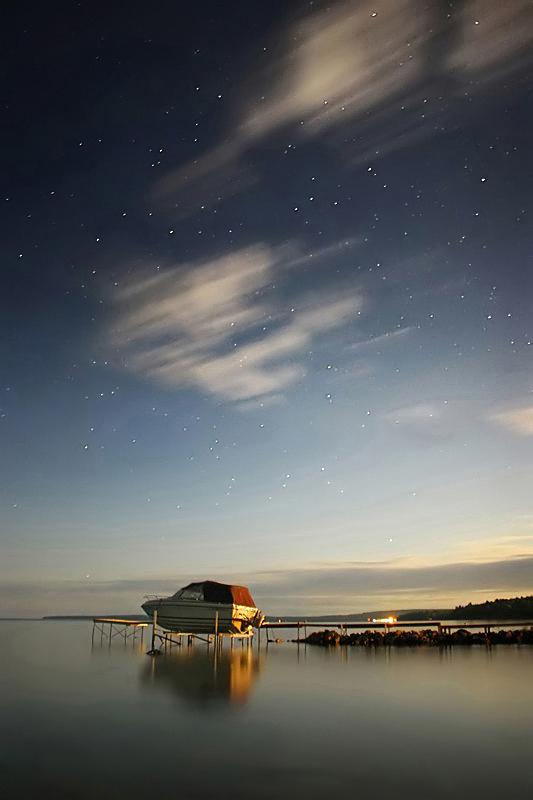 Bright Night at Canoe Point by tfavretto