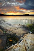 Autumn Evening at Gordon Lake by tfavretto