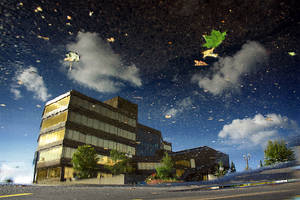 Civic Centre Reflection by tfavretto