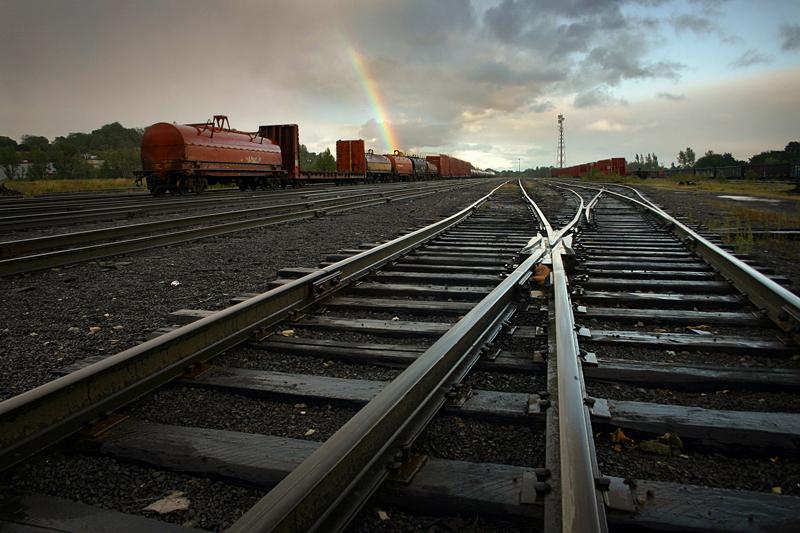 A Rainbow in the Rail Yard by tfavretto