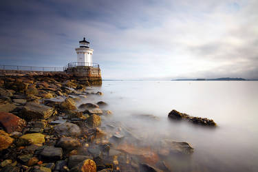 Portland Breakwater Light by tfavretto