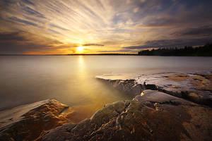 McKay Island Sunset by tfavretto